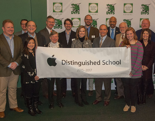 People attending DVFS Apple Distinguished School recognition ceremony