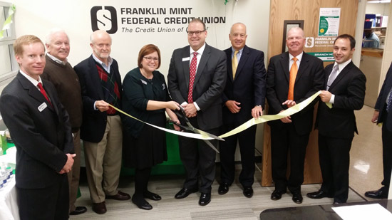 Pictured from left to right are: Rob Croll FMFCU Market Manager, Brad Zerr PBPA President, Ed Auble PBPA board member and past president, Beth Manley FMFCU Branch Manager and PBPA Vice President Marketing and Communication, Bill Tickner PBPA VP Programming, Mike Magnavita FMFCU CFO and SFN President, Mike Familetti FMFCU Regional Manager, and Ryan Fuhrer FMFCU Financial Planner