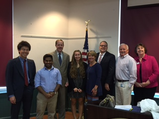 Rep. Milne, scholarship winners and PBPA board members