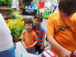 Kids with tiger face painting